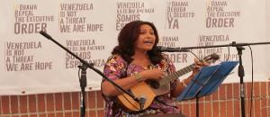 """Cantautora Daisy Gutiérrez: """"Tenemos que salir a defender la Patria con amor"""""""