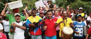 Conatel presente en Gran Marcha Antiimperialista en el estado Falcón