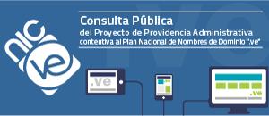 """Abierta Consulta Pública online sobre el Plan Nacional de Nombres de Dominio """".ve"""""""