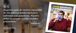 Disciplina y Solidaridad es el nuevo bono aprobado por el presidente Nicolás Maduro