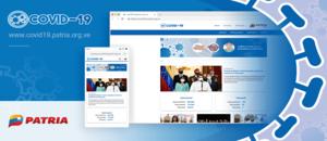 Plataforma Patria presenta sitio web con información sobre el COVID-19