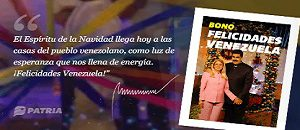 Inicia entrega de Bono Felicidades Venezuela